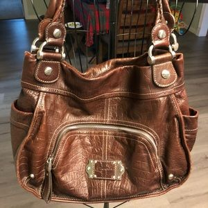 Brown leather large purse